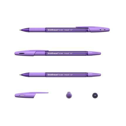 Ручка шариковая ErichKrause® R-301 Violet Stick&Grip 0.7, фиолетовый в пакете 3 шт