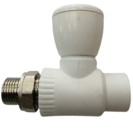 """Вентиль для радиатора прямой VALFEX PP-R 20 х1/2"""" белый (10/100) 11149020"""