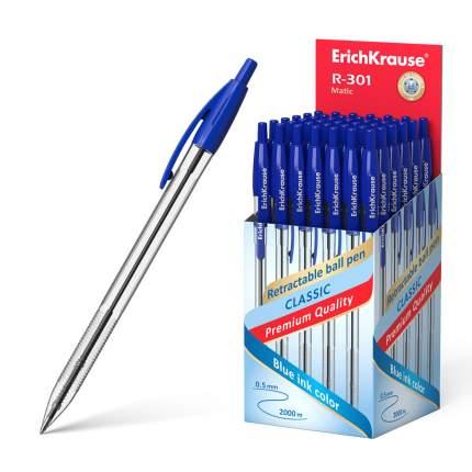 Ручка шариковая автоматическая ErichKrause® R-301 Classic Matic 1.0, синий в коробке 50 шт