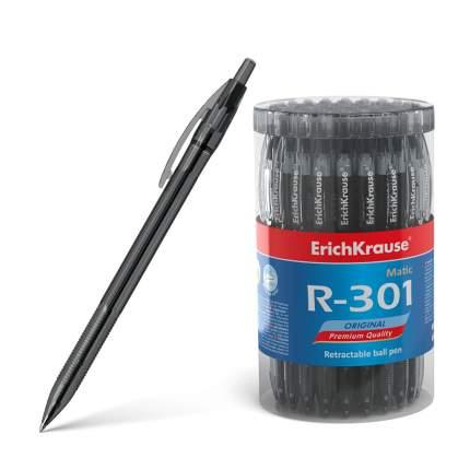 Ручка шариковая автоматическая ErichKrause® R-301 Original Matic 0.7 черный в тубусе 60 шт