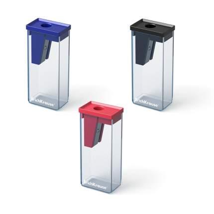 Пластиковая точилка ErichKrause City с контейнером, цвет корпуса ассорти (в блистере по 1