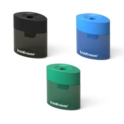 Пластиковая точилка ErichKrause Smart&Sharp с контейнером, цвет корпуса ассорти (в блистер