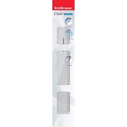 Линейка пластиковая ErichKrause Clear, 30 см, прозрачная (в блистере)