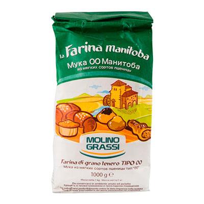 Мука MOLINO GRASSI  из мягких сортов пшеницы 1кг