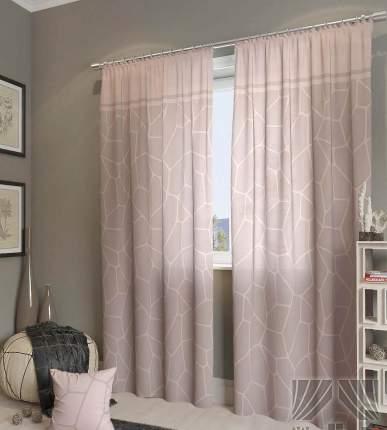 Классические шторы ТомДом Alease Цвет: Розово-Пепельный, высота 260 см