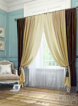 Классические шторы ТомДом Wilhelmina Цвет: Коричневый, высота 300 см