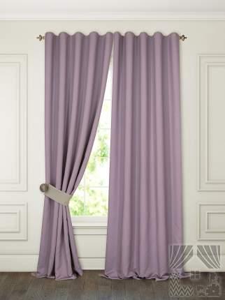 Классические шторы ТомДом Pina Цвет: Сиреневый, высота 280 см