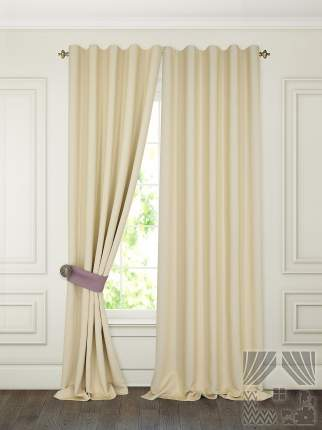 Классические шторы ТомДом Pina Цвет: Сливочный, высота 280 см