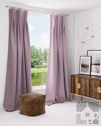 Классические шторы ТомДом Vicinanza Цвет: Пепельно-Розовый, высота 260 см