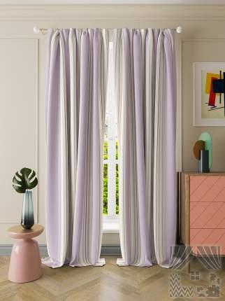 Классические шторы ТомДом Kaylen Цвет: Лавандовый, высота 260 см