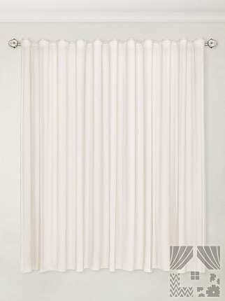Классические шторы ТомДом Madison Цвет: Бежевый, высота 180 см