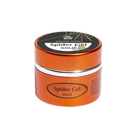 Паутинка Planet Nails Spider Gel, золотая