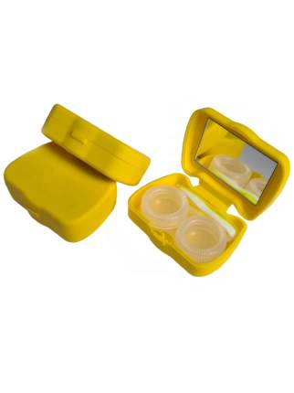 Контейнер для линз DOX  В26-1 желтый 14656322