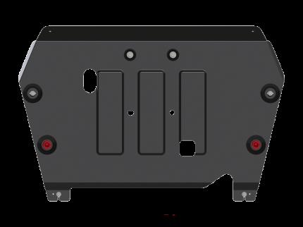 Защита картера и КПП Sheriff на Хавал Ф7 2019-2020, модель №1, сталь 2мм, арт:28.4402