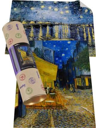 """Картины Ван Гога """"Ночное кафе на улице + Звёздная ночь над Роной"""""""