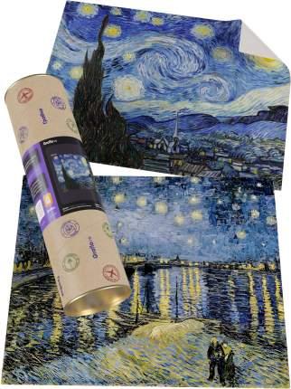 """Картины Ван Гога """"Звёздная ночь + Звёздная ночь над Роной"""""""