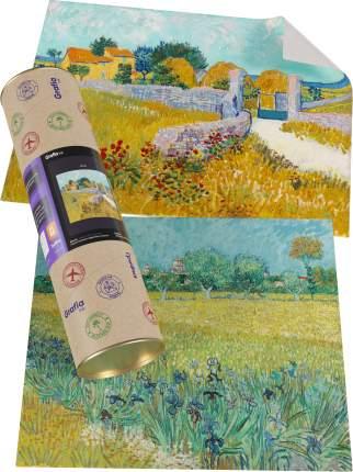 """Картины Ван Гога """"Фермерский дом в провансе + Поле с ирисами близ Арля"""""""