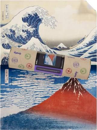 """Картины Кацусика Хокусай """"Красная Фудзи синий + Большая волна в Канагаве"""""""