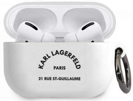 Чехол Karl Lagerfeld Silicone Case (KLACAPSILRSGWH) для AirPods Pro White