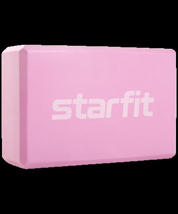 Starfit Блок для йоги Core YB-200 EVA; розовый пастель