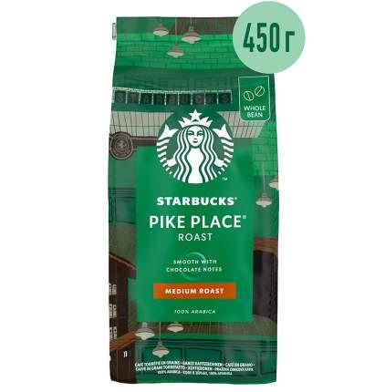 STARBUCKS Medium Pike Place Roast кофе в зернах 450г
