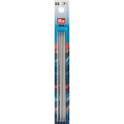 Спицы чулочные с острием на обоих концах, 2,0 мм, 15 см, 5 штук