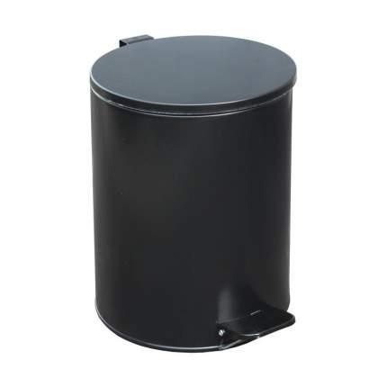 Ведро мусорное, с педалью, стальное, черное, 15 литров, 250х330 мм