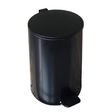 Ведро мусорное, с педалью, стальное, черное, 20 литров, 250х400 мм