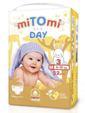 Подгузники-трусики miTOmi Day M (6-10 кг), 52 шт.