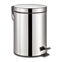 """Ведро-контейнер для мусора с педалью """"Classic"""", 5 литров, зеркальное"""