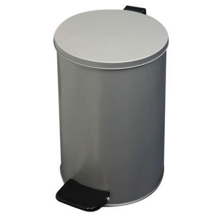 """Ведро-контейнер для мусора, с педалью """"Усиленное"""", 10 литров, кольцо под мешок, серое"""