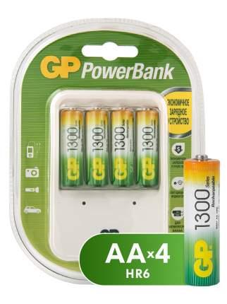 Зарядное устройство GP + аккумуляторы АА (HR6) 1300 мАч 4 шт