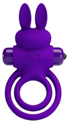 Фиолетовое эрекционное кольцо с вибростимуляцией клитора Vibrant Penis Ring III