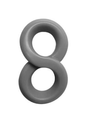 Серое эрекционное кольцо на пенис RINGS LIQUID SILICONE