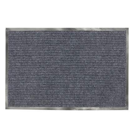 Коврик входной ворсовый влаго-грязезащитный, 120x150 см, ребристый, серый