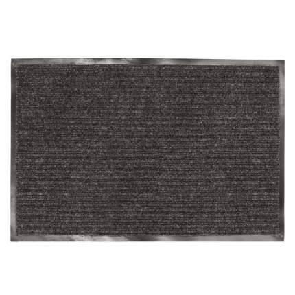 Коврик входной ворсовый влаго-грязезащитный, 120x150 см, ребристый, черный