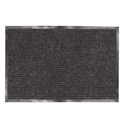 Коврик входной ворсовый влаго-грязезащитный, 90х120 см, ребристый, черный