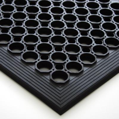 """Коврик напольный резиновый """"REM"""", 80x120х1,4 см, черный"""