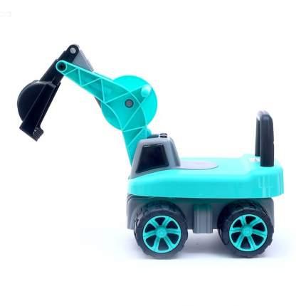Толокар Экскаватор, подвижный ковш, световые и звуковые эффекты, цвет зелёный Sima-Land