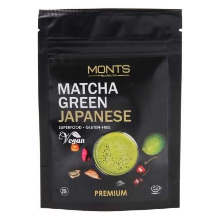 """Чай Monts """"Matcha Green Japanese"""", зеленый порошковый, 20 гр"""