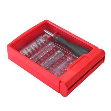 Прецизионная отвертка с пинцетом и набором бит для точных работ DEKO BS32 (32 предмета)
