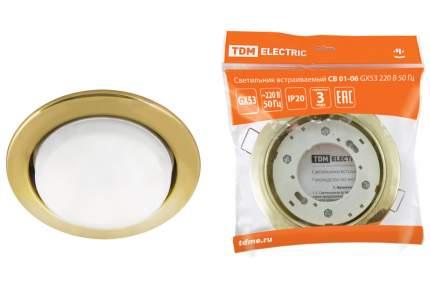 Светильник встраиваемый TDM ELECTRIC СВ 01-06 GX53 SQ0359-0059