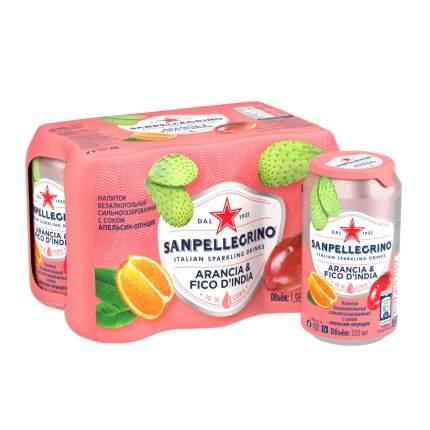 Напиток газированный Sanpellegrino, с соком апельсина и опунции, 0,33 л х 6 шт