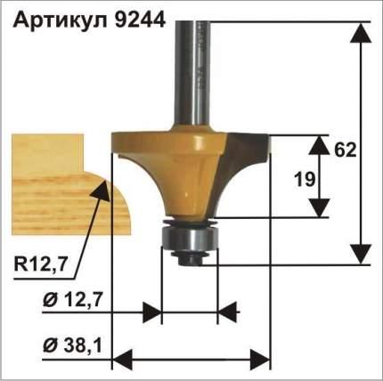 Фреза кромочная калевочная ф38,1 x 19 мм R12,7 мм хвостовик 8 мм Энкор 9244