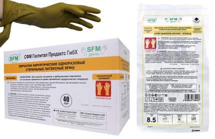 Перчатки хирургические стерильные неопудренные без валика 7,5 M, средн. SFM