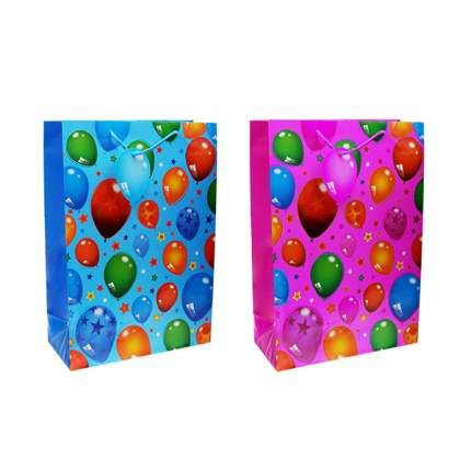 Пакет подарочный бумажный Воздушные шары TZ14045 27*19*13 см 2 вида (в ассортименте) 1 шт