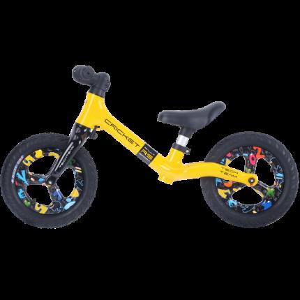 Детский беговел Тесh Теаm Сriскеt RS на литых дисках, желтый