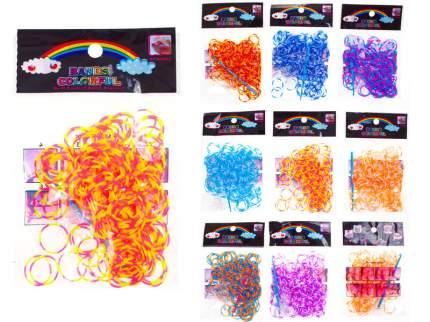 Набор резиночек для плетения браслетов TUKZAR двухцветные 12 пакетов по 200 резиночек