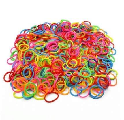 Набор резиночек TUKZAR цветные для плетения браслетов,12 пакетов по 200 резиночек