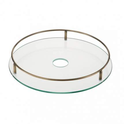 Полка стеклянная диаметр 350 мм., Д380 Ш380 В70, бронза, STS350 AB